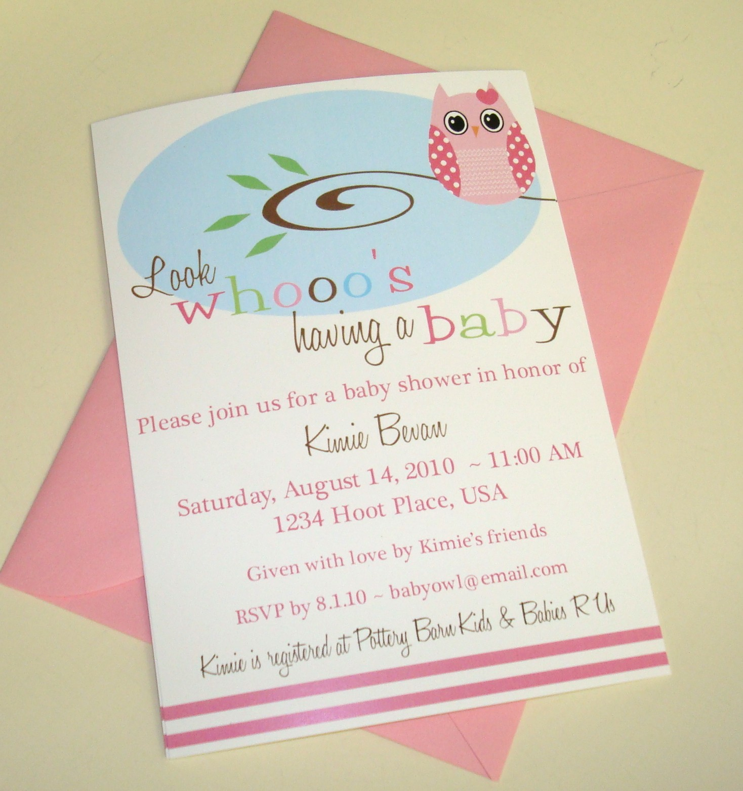 swanky paper blog owl theme baby shower