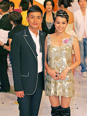 Myolie Wu and Bosco Wong at TVB Lighting Ceremony 2008