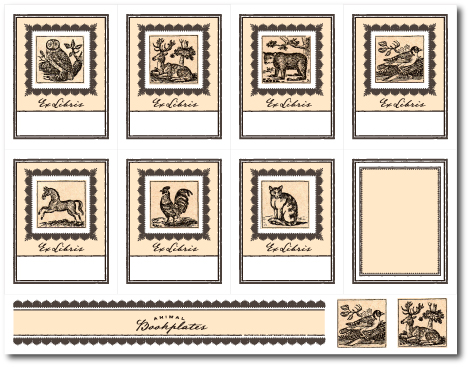 Printable vintage bookplates the refab diaries for Free printable bookplates templates