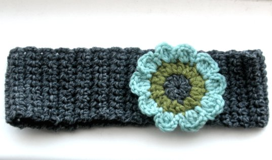 grey flowered earwarmer