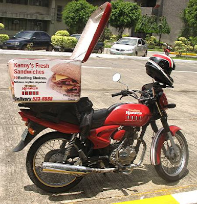 Kenny Rogers Roasters delivery motorcycle
