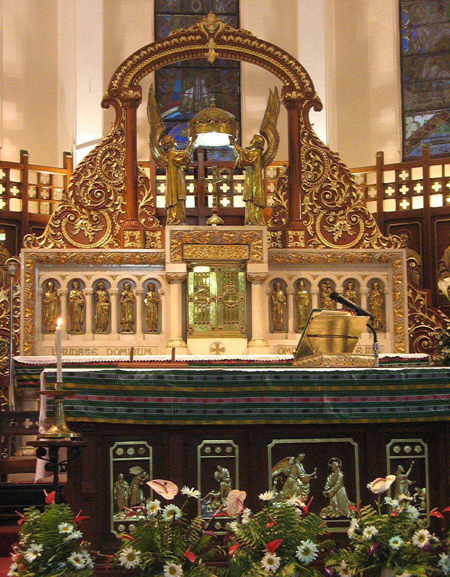altar and tabernacle of the Baguio Cathedral