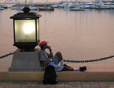 man at the Manila Bay