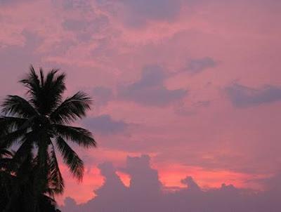 rainy day sunset in Manila Bay