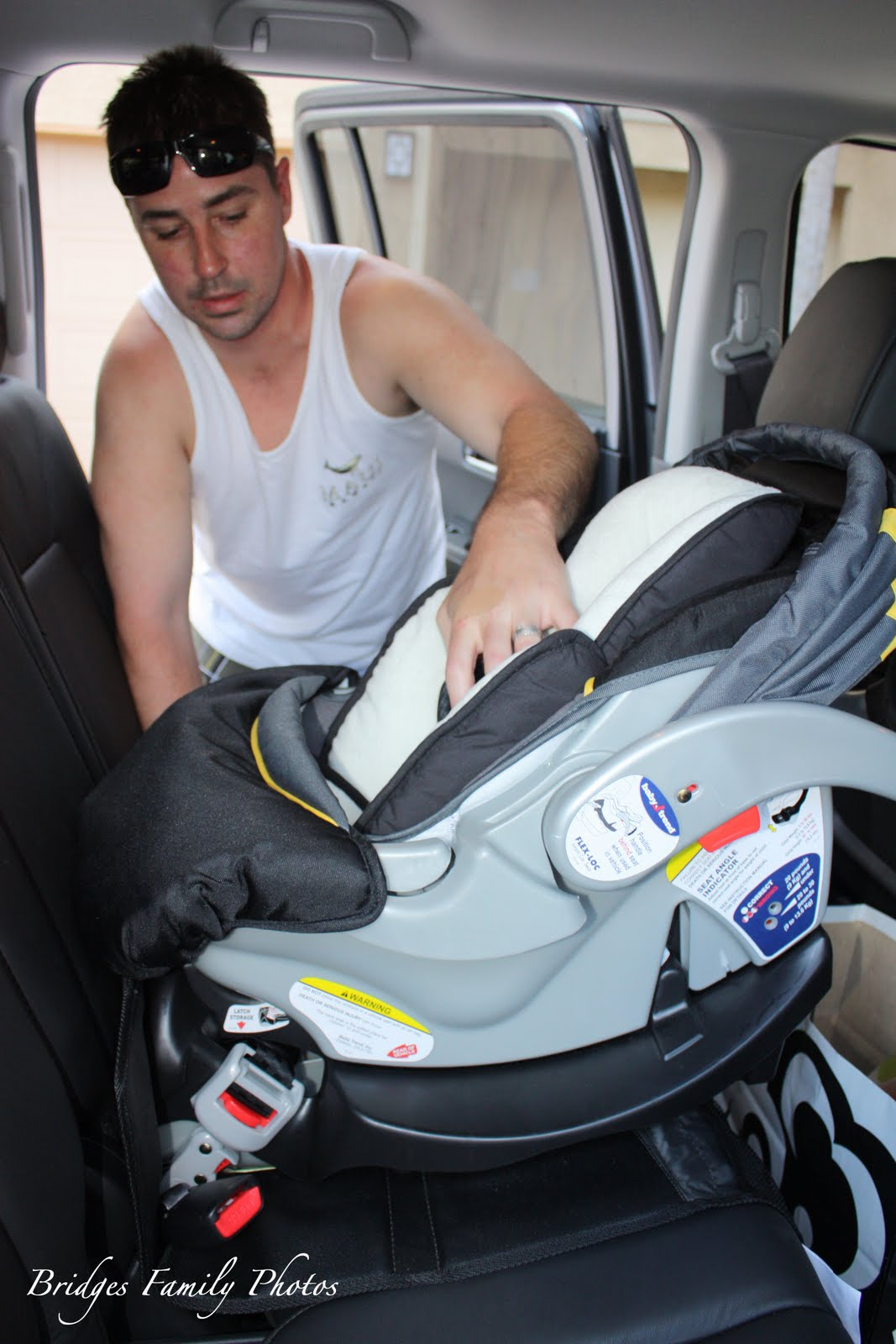 Car Seat Installed In AMs Truck
