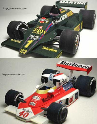 formula one race car papercraft