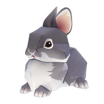 cute rabbit papercraft