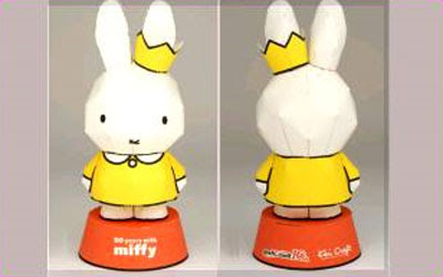 Cute Miffy paper model