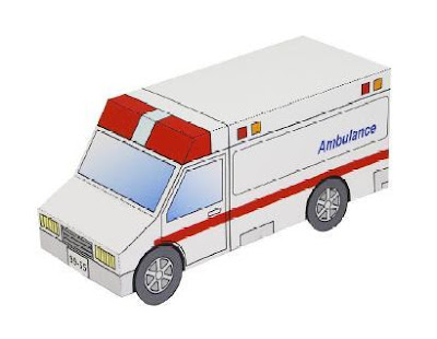 Ambulance papercraft