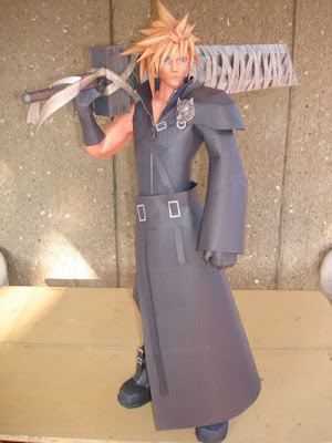 cloud strife paper model