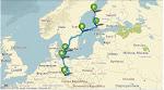 Route Chemnitz-Vaasa