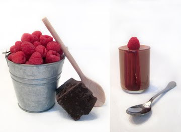 sucr e mousse au chocolat with raspberry. Black Bedroom Furniture Sets. Home Design Ideas