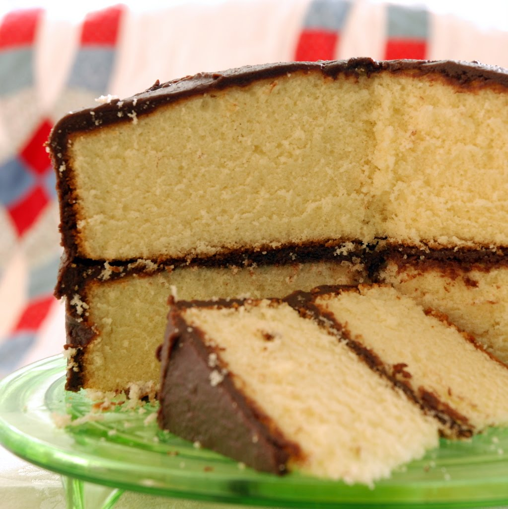 Yellow Butter Cake With Chocolate Frosting Recipe — Dishmaps