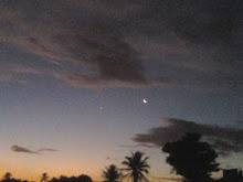 Crescente Lunar e Vênus ao lado