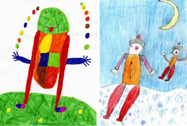Любителям детского психоделического рисунка.