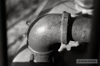photo artistique abstrait tuyau de fer