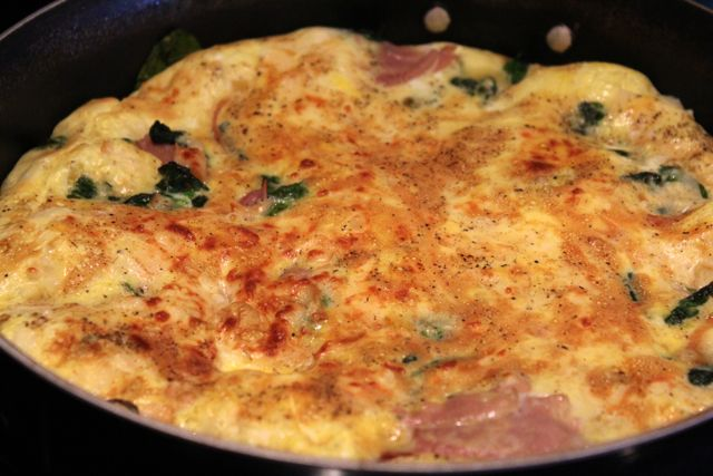 Earning Your Apron: Frittata with Arugula and Pepper