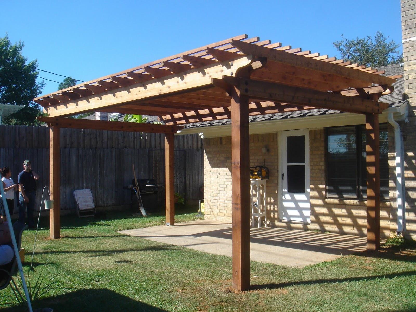 Pergola Backyard Designs : Posted by Buck in the Heart of Texas at 1212 PM