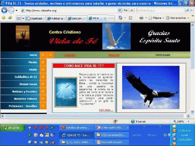 internet pagina web: