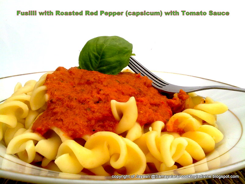 ... of Blog: Fusilli with Roasted Red Pepper(capsicum) and Tomato sauce