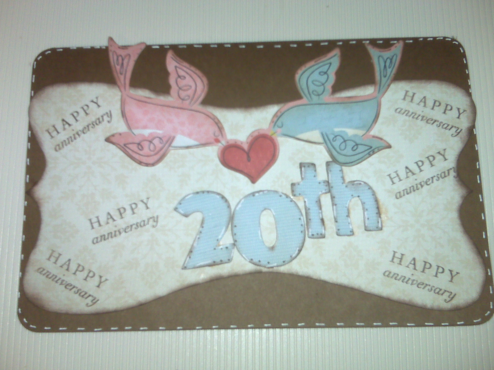 29th Wedding Anniversary Gift For Husband : Carolinabuggs life and creations: 20th Anniversary Card for my hubby!