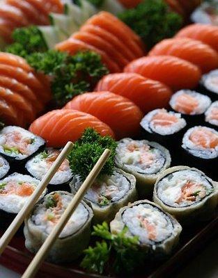 Louca por comida japonesa!