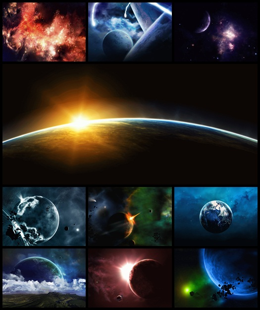 Beautiful Space Wallpapers Pack Size: 25,1 Mb Free Download