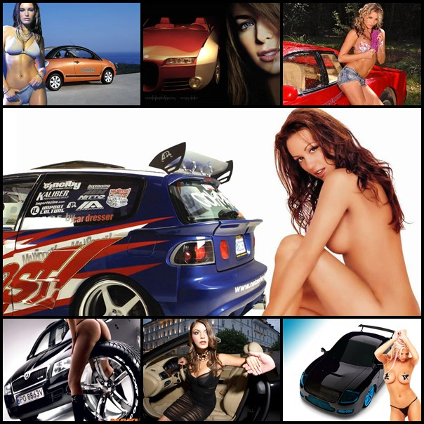 Hot Girls and Cars Wallpapers Pack