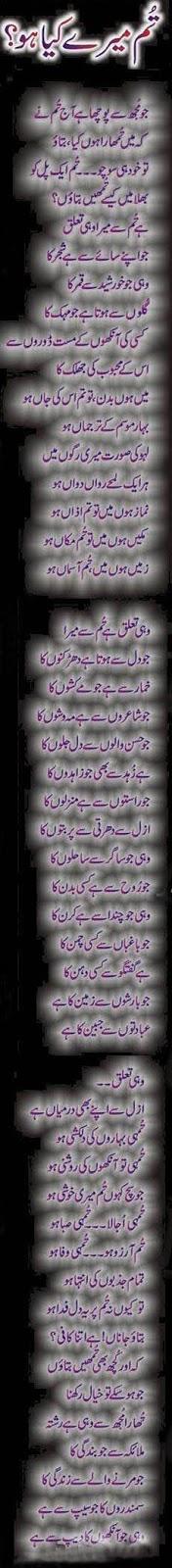 Tum Mera Kya Hoo... - Urdu Poetry