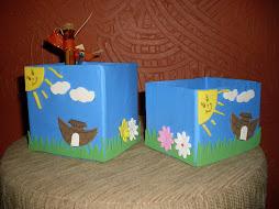 Feitos com caixinha de papelão