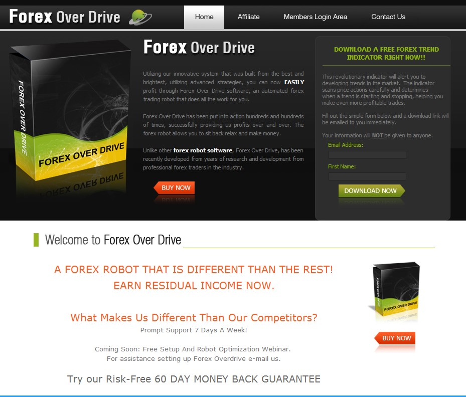 Forex overdrive ea