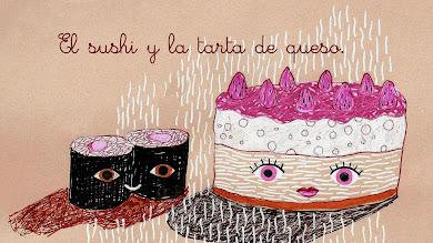 El sushi y la tarta de queso