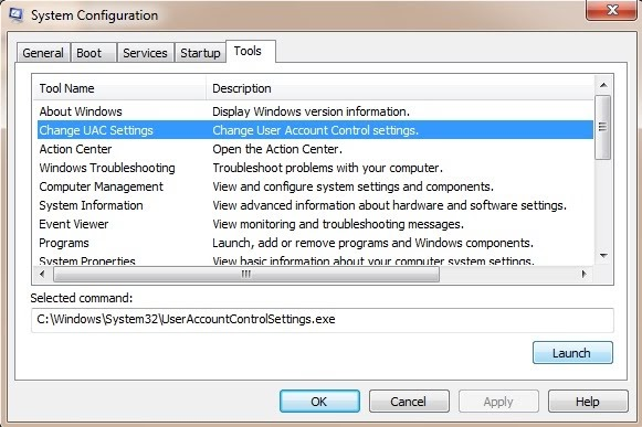 how to open user account control in windows