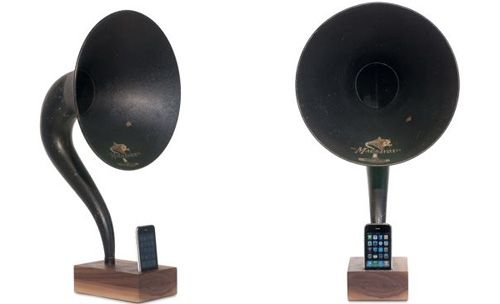 iVictrola iPhone Dock Brings The Old To The New