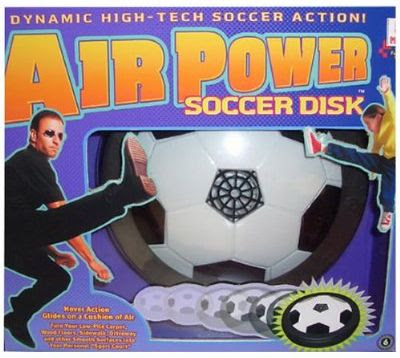 Air hockey turns Air Soccer with the Soccer Disk