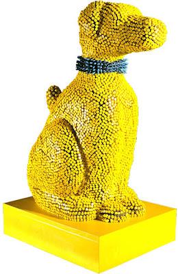Crayon Dog Sculpture Is Creative
