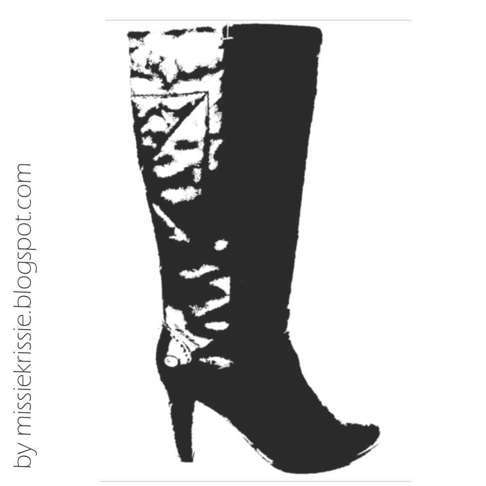 Cowboy boots outline