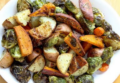 go vegan meow!: Roasted Fall Vegetables and Cornbread Stuffing