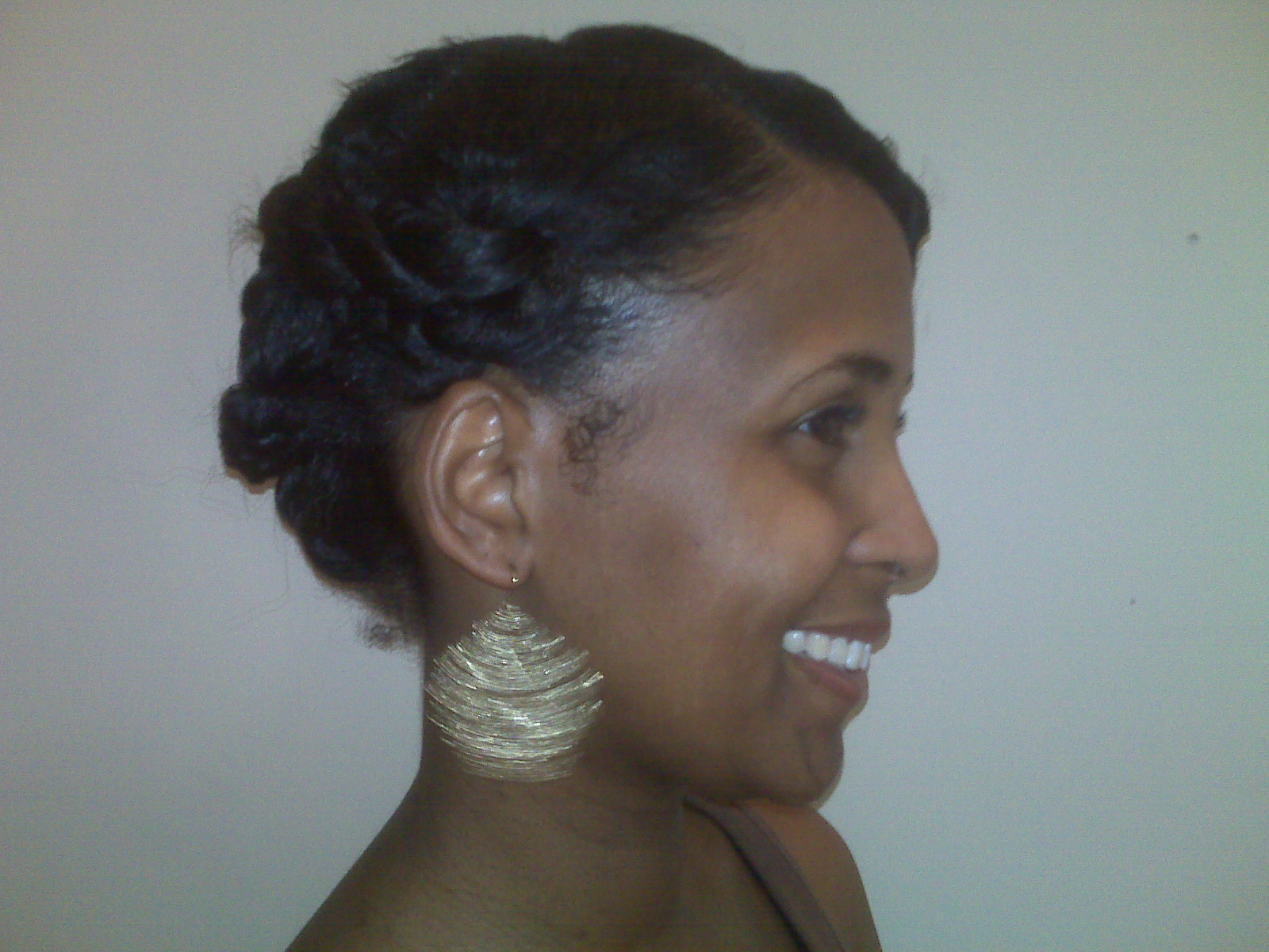 Natural Hair Styles Updos: Fat Twist Updo- Natural Hair Style