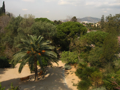 Gardens on the Montjuic hill