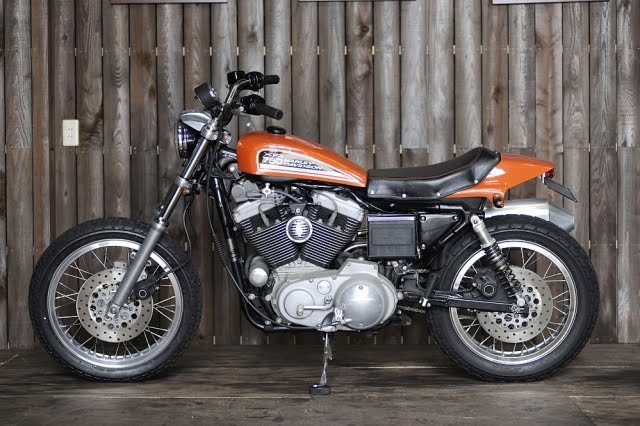 For Those Considering Doing A Street Tracker Evo Sportster Note How Mounting The XR750 Style Seat Up Higher Rather Than Sitting On Frame Improves