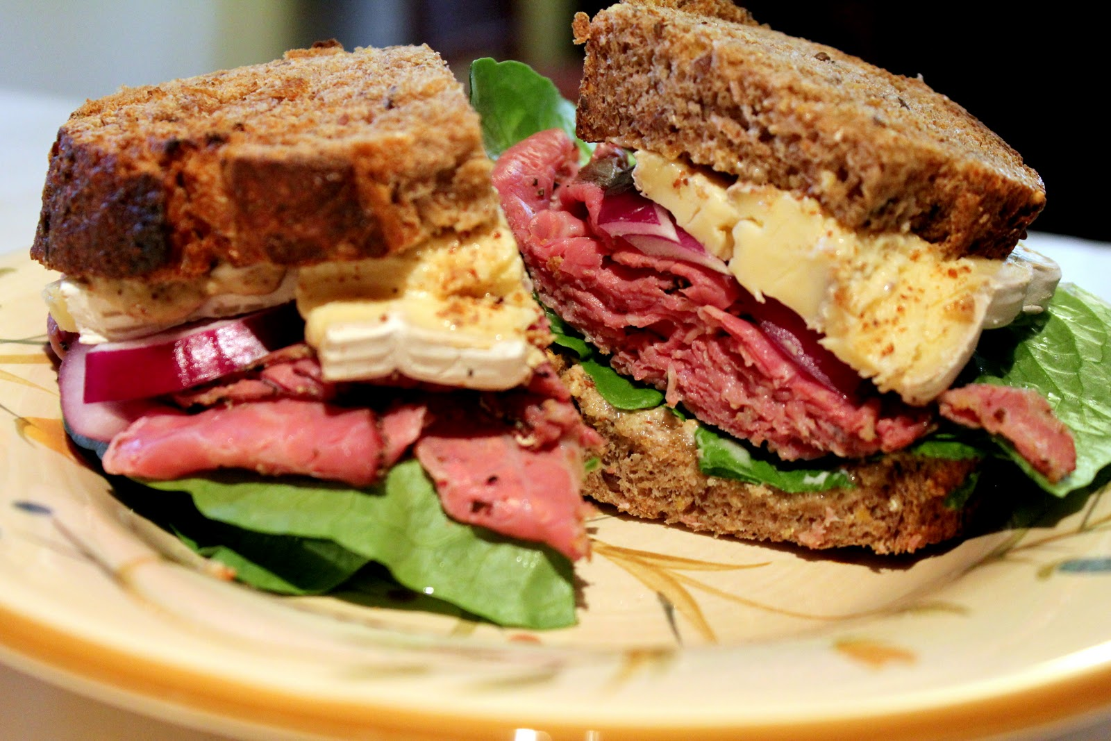 Bentobloggy: Pastrami & Brie Sandwich