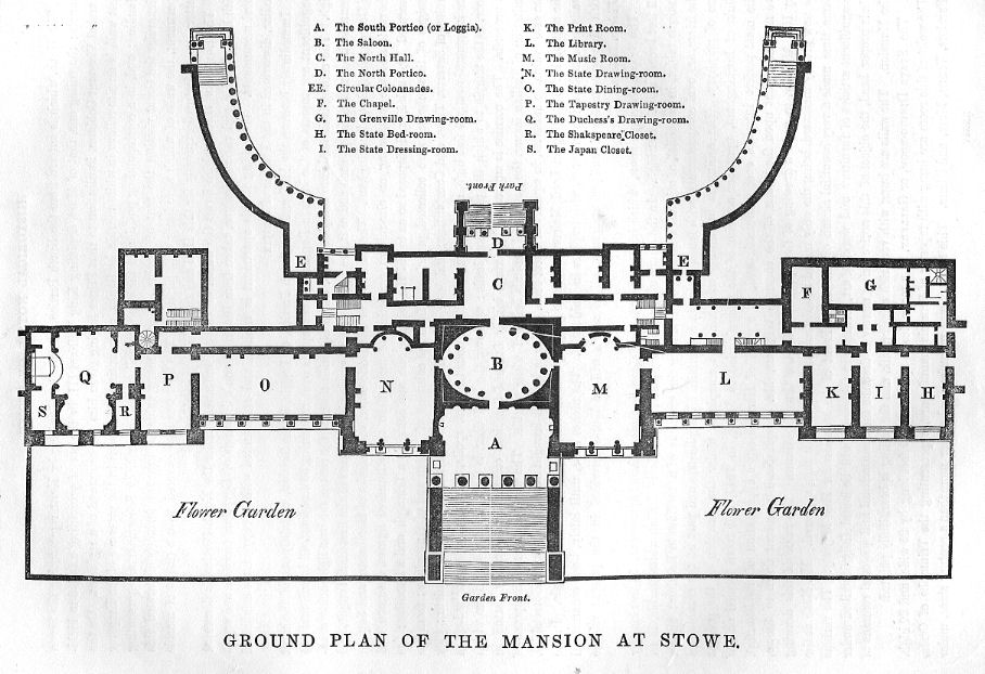 Stowe_house_ground_plan_1848 althorp house floor plan house plans,Althorp House Floor Plan