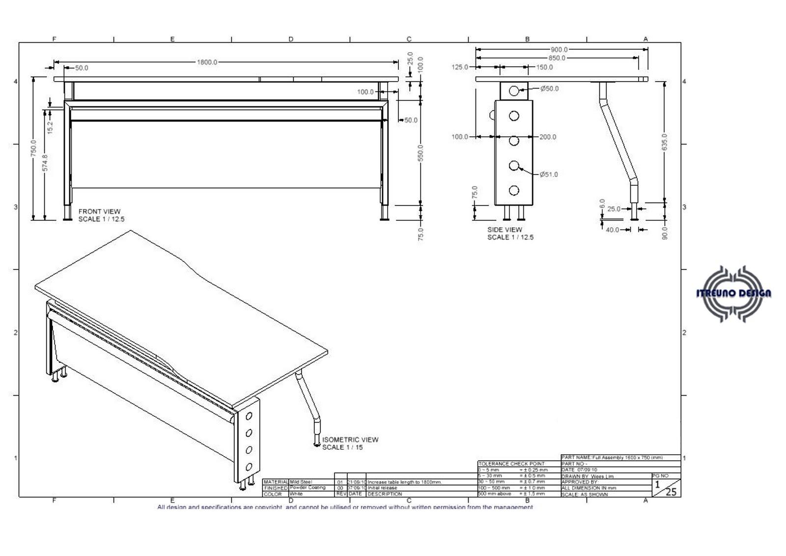 Itreuno Design Sc Office Table