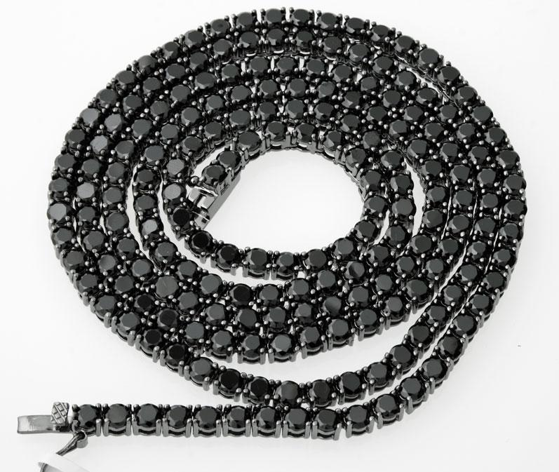 1 ROW BLACK DIAMOND CHAIN