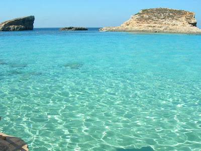 Malta, mar azul