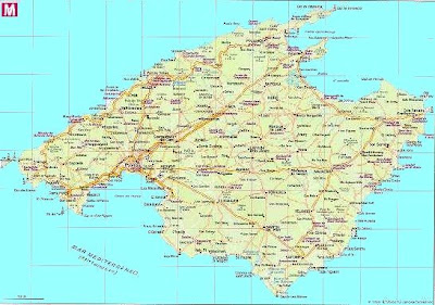 Mapa de Mallorca, Islas Baleares
