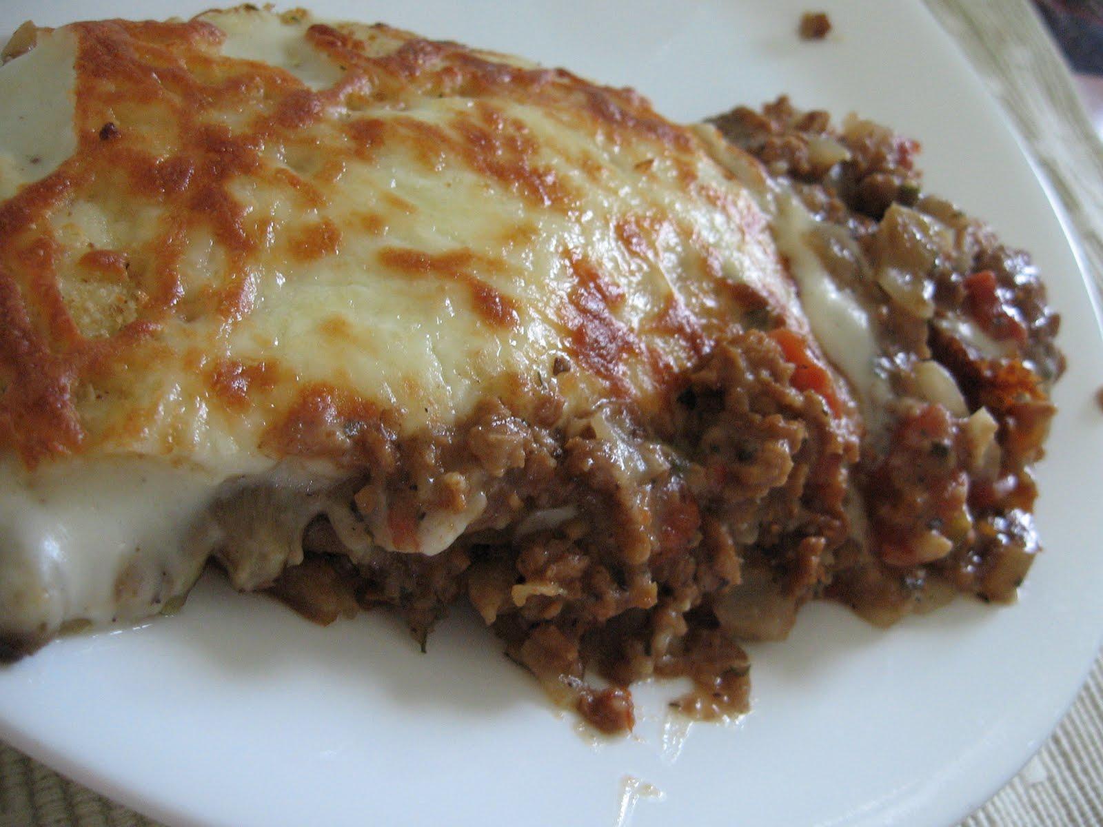 Ma cuisine passion moussaka sans viande for Viande cuisinee