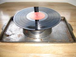 tigela feita com discos de vinil recilclagem