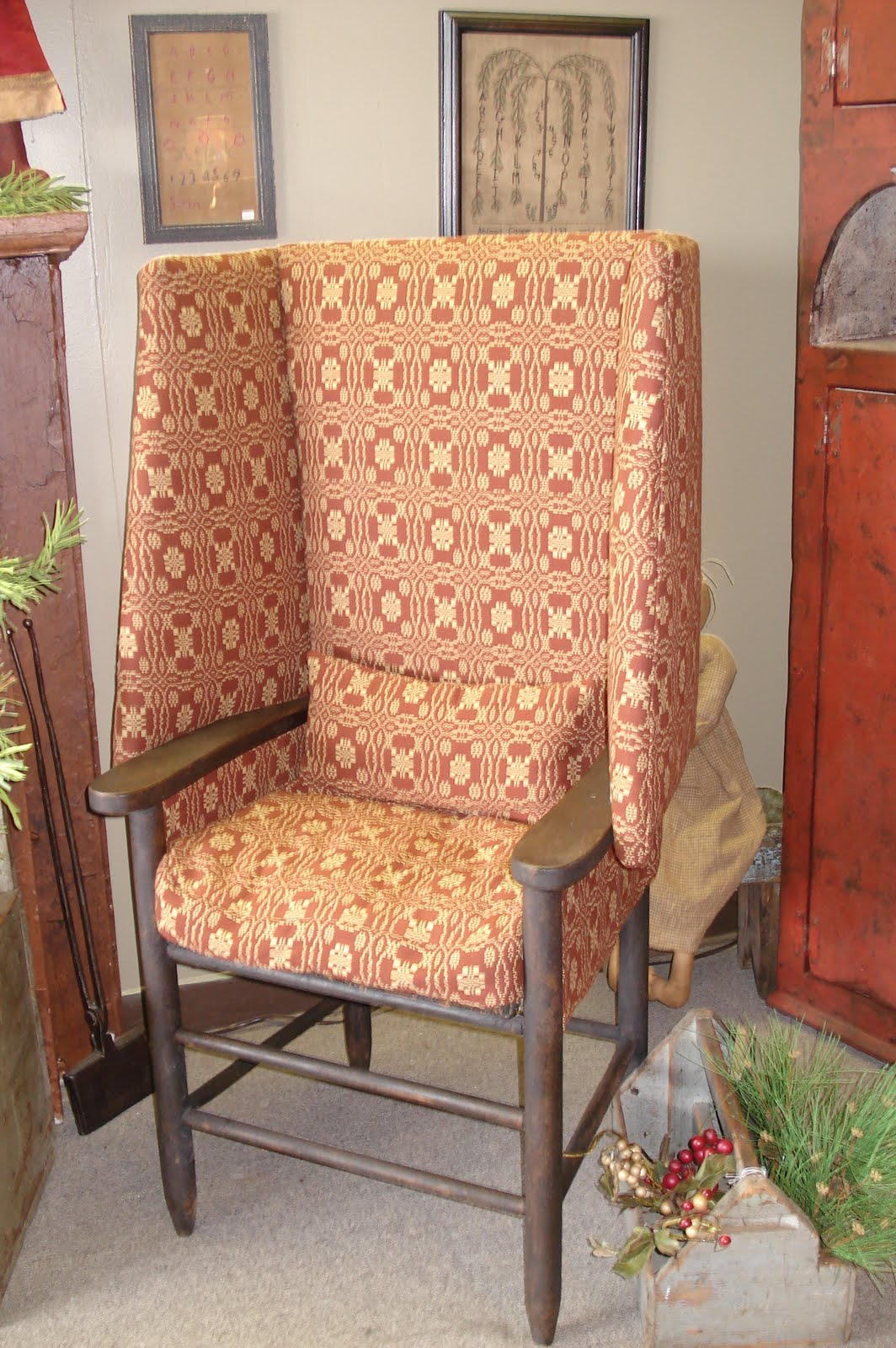 A Wingback Chair Is A Staple In Country Decorating. It Adds A Certain Charm  To The Country Setting. Imagine This Prim Chair By The Fireplace And  Enjoying A ...